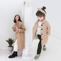 Toddler Winter Clothes Family Matching Clothes Children's Coat Korean Girls Windbreaker Jacket Autumn Mom and Daughter Dress