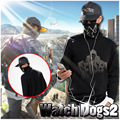 Game Watch Dogs 2 Marcus Holloway Long Sleeve Hoodie  Cosplay costume  Sweatshirt shirt