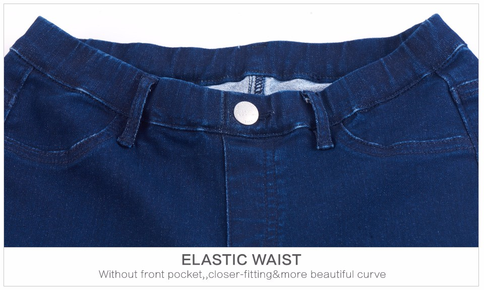 Women Jeans Plus Size Casual high waist summer Autumn Pant Slim Stretch Cotton Denim Trousers for woman Blue black 4xl 5xl 6xl 21