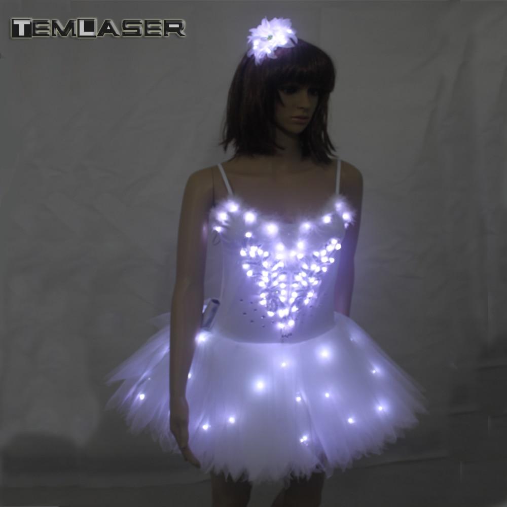 Luminous Ballet Swan Lake LED TuTu Veil Costume Adult LED Ballet Rok - Nieuwe items