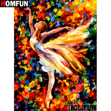 HOMFUN Full SquareRound Drill 5D DIY Diamond Painting Beauty oil painting Embroidery Cross Stitch 3D Home Decor A10604