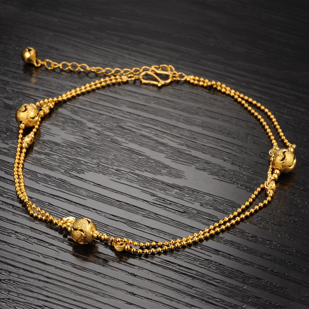 s bracelets gold designer yellow fine rope bracelet jewelry ankle metallic anklet macys lyst macy in women