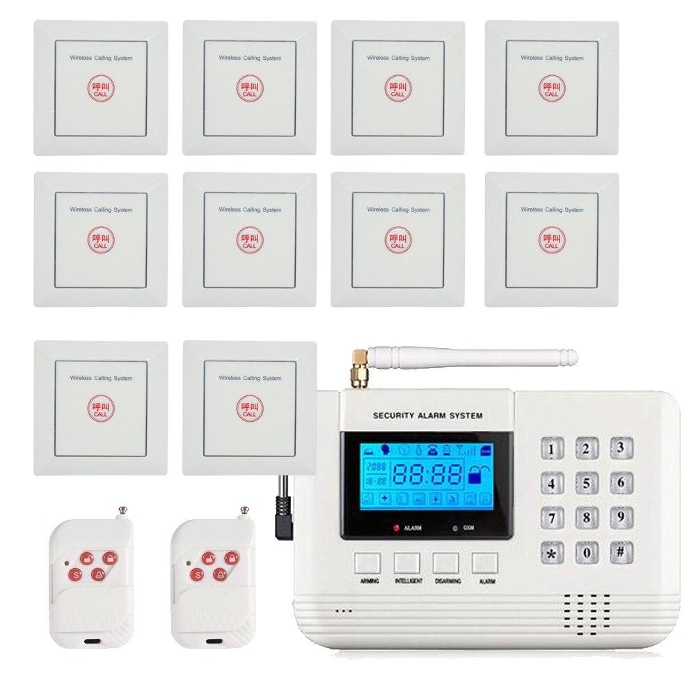 Nouveau produit 433 mhz système d'appel sans fil bouton d'urgence support système d'alarme PSTN et GSM pour bouton panique de sécurité à domicile