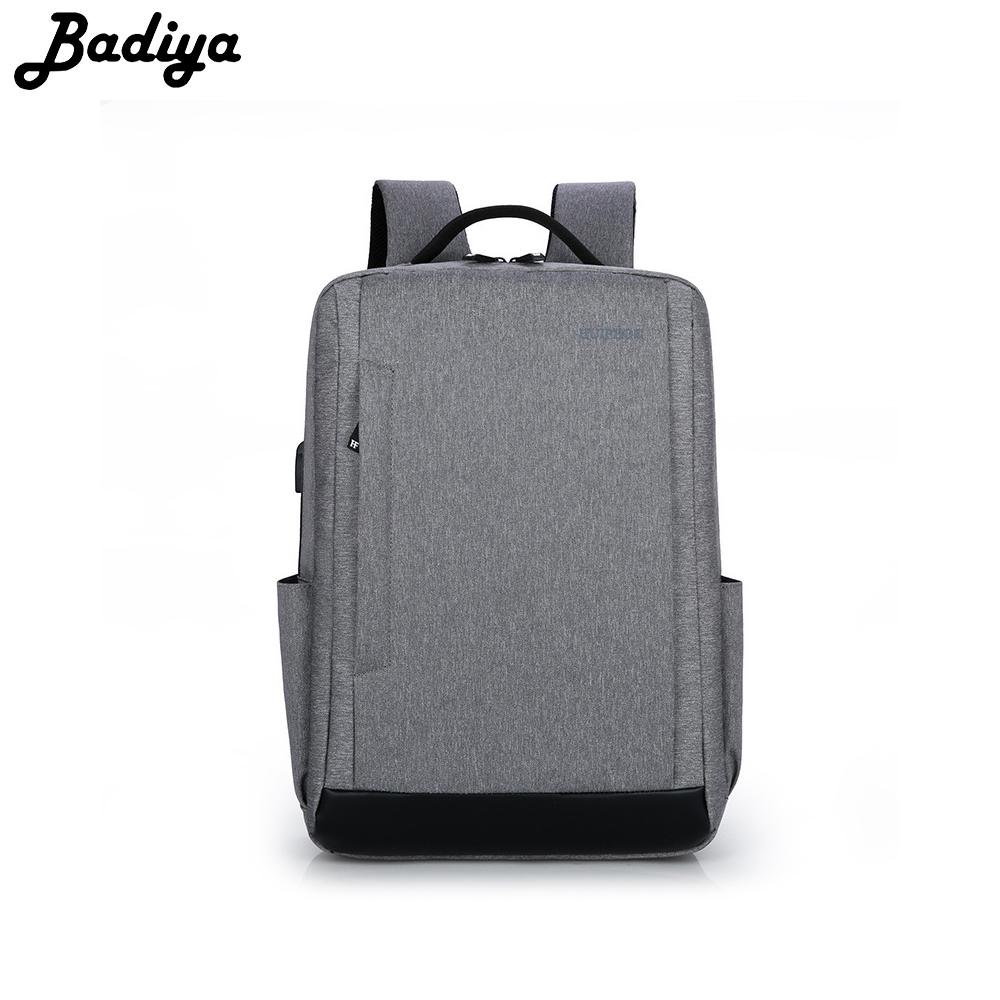 Fashion Brief School Bag Unisex Canvas USB Charging 15.6 inch Laptop Backpack Women Men High Quality Travel Shoulder Bags Retail new gravity falls backpack casual backpacks teenagers school bag men women s student school bags travel shoulder bag laptop bags