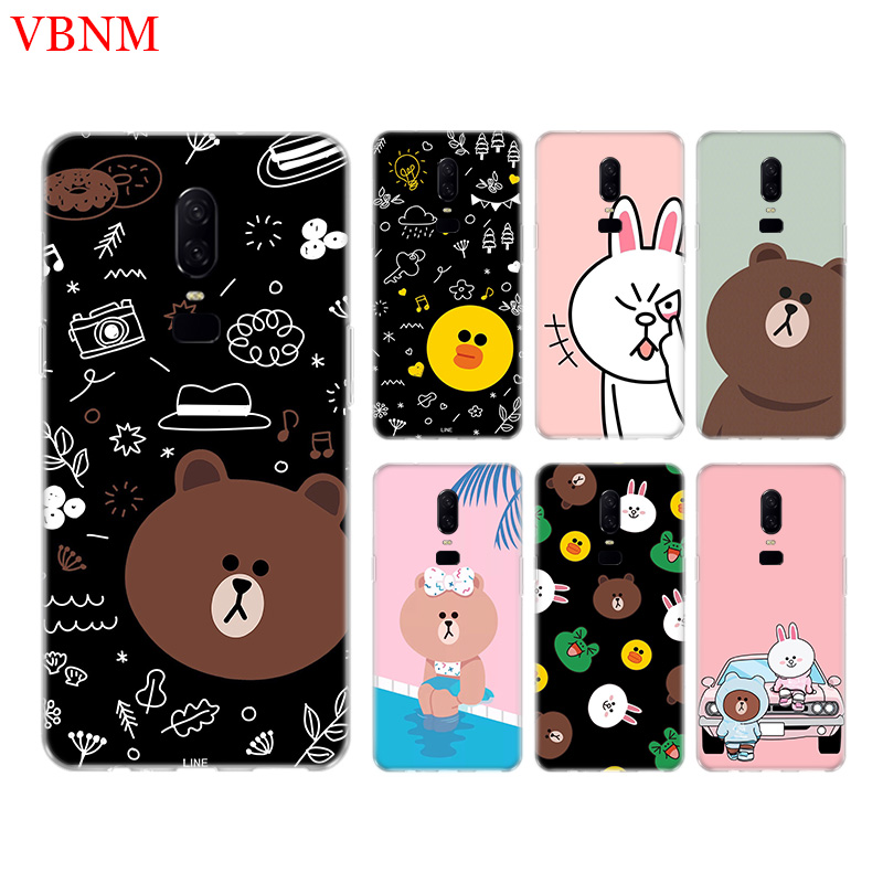 Bear Brown Funny New Phone Back Case For font b OnePlus b font font b 7