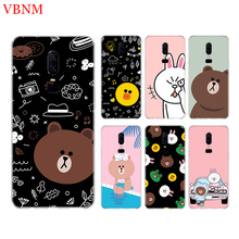 Bear Brown Funny New Phone Back Case For OnePlus 7 Pro 6 6T 5 5T 3 3T 7Pro 1+7 Art Gift Patterned Customized Cases Cover Coque