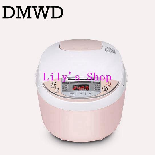 все цены на Smart mini electric rice cooker small household intelligent reheating rice cookers kitchen pot 3L for 1-2-3-4 people EU US plug онлайн