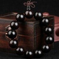 Indonésie ebony perles bracelets hommes Bracelet en bois dames mode bijoux perles couple style folk de transfert