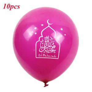 Image 5 - 10 adet Eid Mubarak balonlar ramazan malzemeleri balonlar İslam yeni yıl dekor ramazan Kareem müslüman festivali dekorasyon balonu