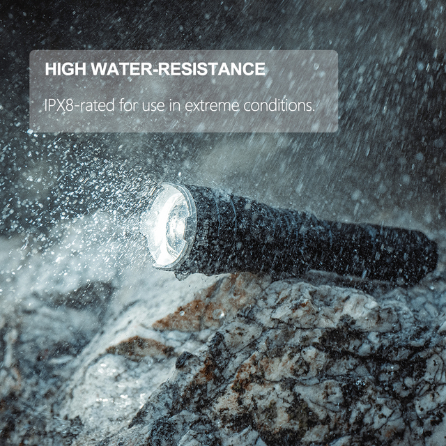 Powerful LED Flashlight Zoomable Tactical flashlight 1200 Lumen USB Rechargeable 18650 Waterproof IP8 Torch Cree L2 LED Light xm