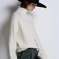 Hot Sale Sweaters Women 100% Cashmere and Wool Jumpers Woman Pullovers Winter Warm Turtleneck Sweater Ladies Clothes Woolen Tops