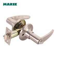Round Door Handle Door Knobs Lock Stainless Steel Entrance Passage Door Lock  for Bedroom Living Room Bathroom недорого