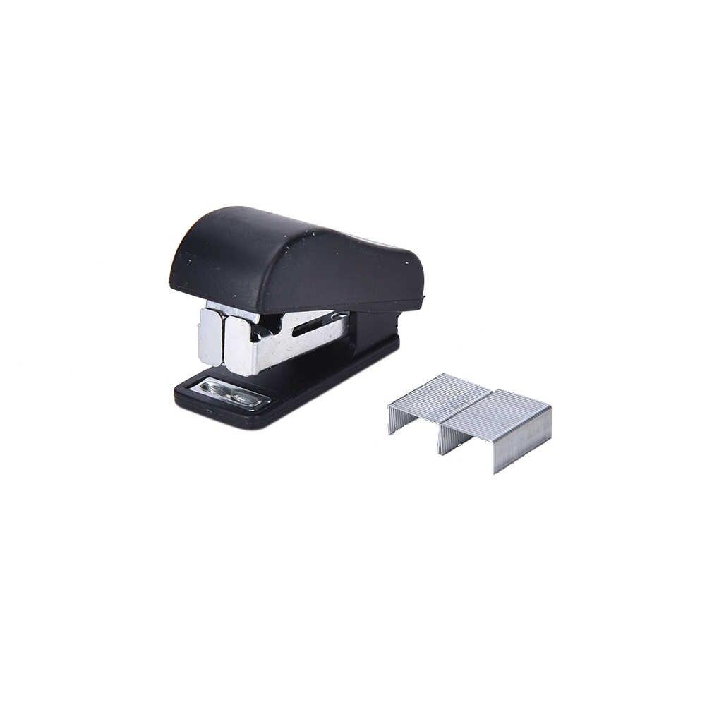 Peerless Kawaii plastikowy Mini zszywacz zestaw zszywacz papier biurowy akcesoria Mini Corchetera Binder stacjonarne z 50 szt. Zszywki