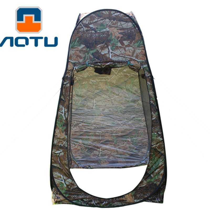 Free Shipping Shower Tent Camouflage Beach Fishing Outdoor Camping Toilet Tent,Changing Room Tent Shower With Carrying Bag portable shower tent outdoor waterproof tourist tents single beach fishing tent folding awning camping toilet changing room