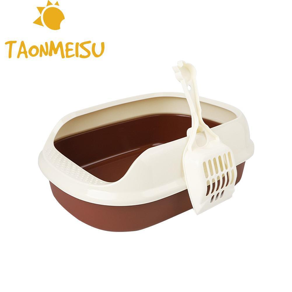 New Arrival Plastic Cat Toilet Trainer Crack-proof Bottom Polyester Cat Litter Box Pet Cleanning Anti-breaking Training Supply