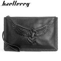 Baellerry Crocodile Long Wallet Men Genuine Leather Zipper Purses Male Cell Phone Clutch Coin Pocket Luxury Brand Money Bag