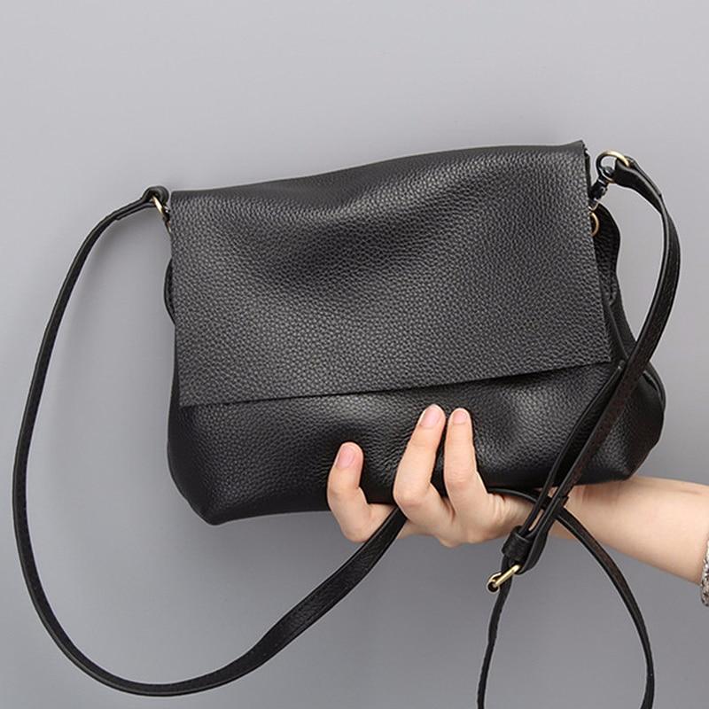 Genuine Leather Purse Las Black