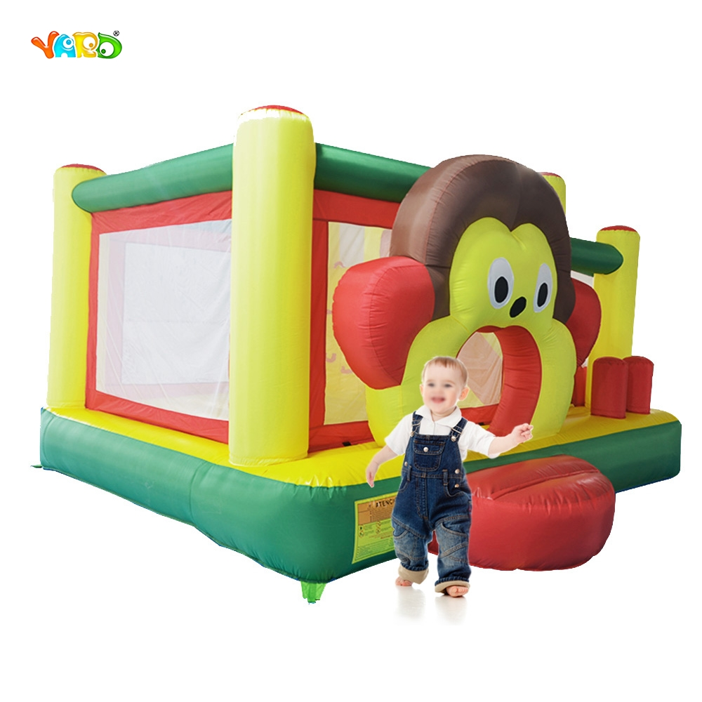 YARD Free Shipping To Africa In Stock For Sale Cartoon Monkey Inflatable Bouncer Bouncy Castle Jumper Combo For Family Party yard free shipping bouncy dream castle inflatable jumper bouncer 6 in 1 all round obstacle combo for home use