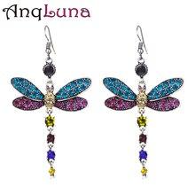 2019 Earrings For Women Dragonfly Tassel Earring Vintage Drop Dangle Boho Crystal Rhinestone Trendy Fashion Jewelry