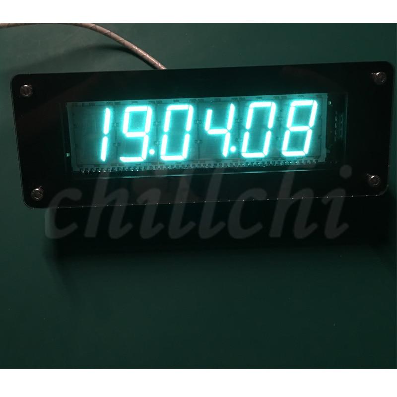 SVB Fluorescent Tube Clock VFD Clock GPS Time Calibration Retro Electronic Clock DIY Vacuum Fluorescent Tube