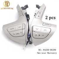 2PCS 84250 06180 Top quality Steering Wheel Audio Control Button Switch For TOYOTA HILUX/VIGO /COROLLA/CAMRY /HIGHLANDER /INNOVA
