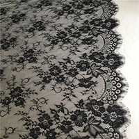3 M Pieces Exquisite France Eyelash Lace Fabric White Handmade Diy Curtain Decorative 150CM Wide Clothes