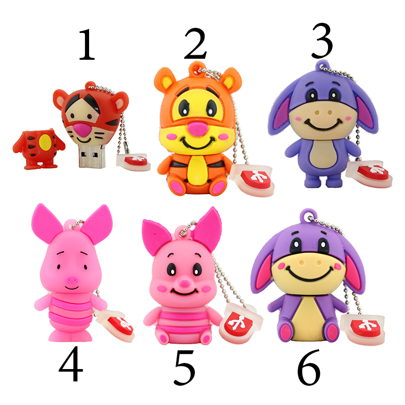 Pen font b Drive b font New Cartoon Little Donkey Tiger Pig font b USB b