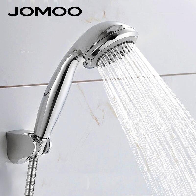 Water Saving Shower Heads >> JOMOO 5 jets Shower Head ABS Chrome Bathroom Shower Water Saving High Pressure Round Shape Hand ...