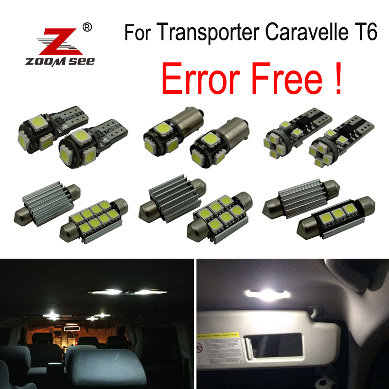 20pcs LED font b Interior b font reading dome Lights bulb Kit for Volkswagen Accessories for