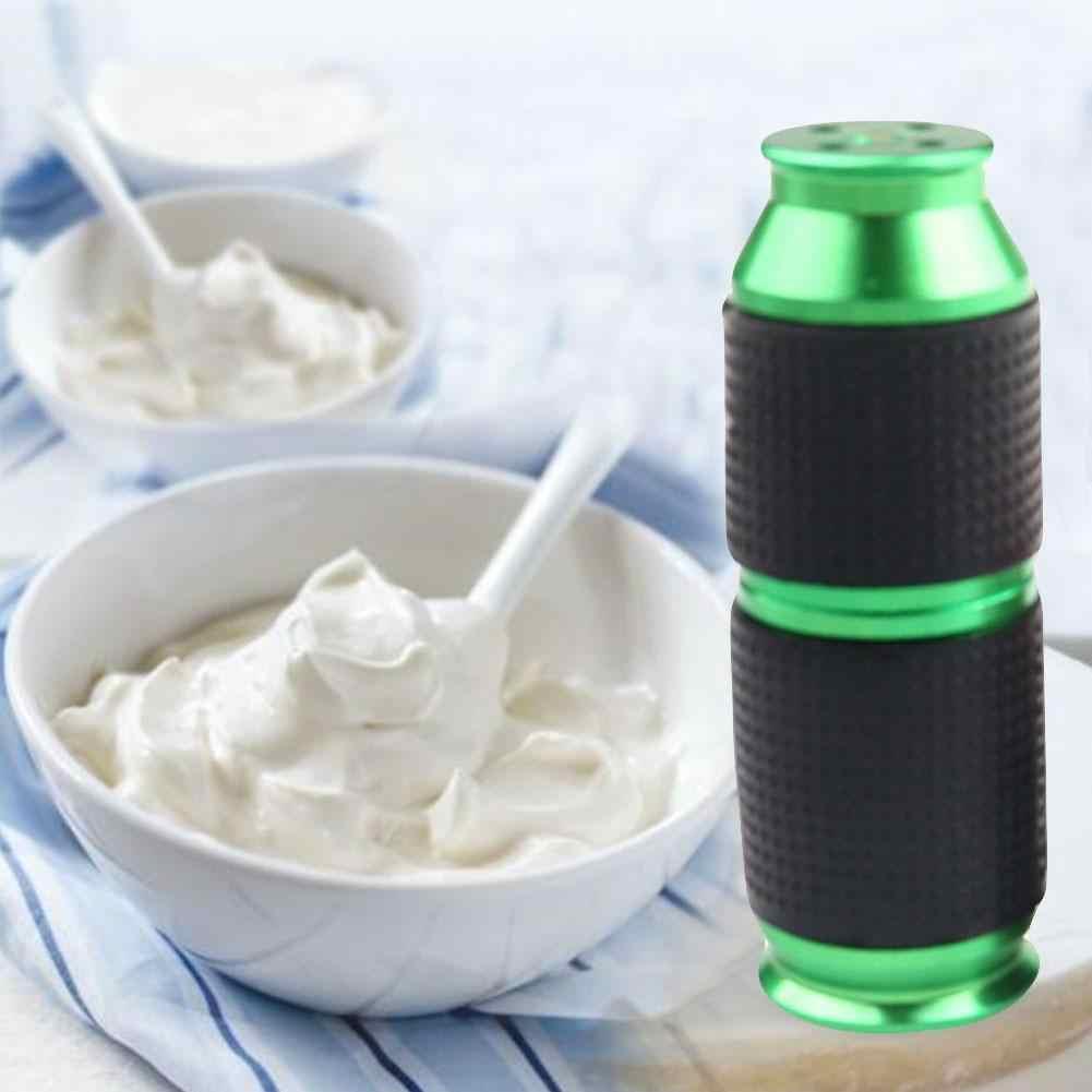 Cream Bubble Maker przenośny Mini bita śmietana dozownik Cracker gumowy uchwyt bezpieczny dozownik gazu kanister biczowanie