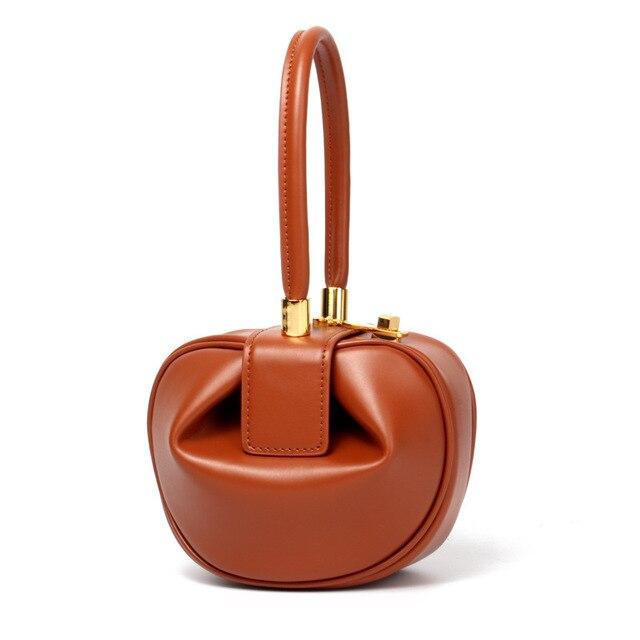 Мода 2018 клатч с Круглым Верхом, сумки с ручками, роскошные сумки, женские сумки, дизайнерские винтажные сумки с застежкой, женские сумки из натуральной кожи