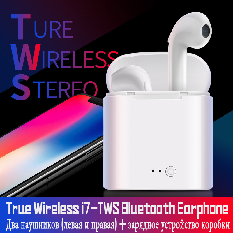 New I7s Tws Mini Bluetooth Earphones With Charger Box True Wireless Headset Double Twins Stereo Earbuds For Iphone Xiaomi Huawei edal tws headset true wireless bluetooth double twins earbuds earphone for iphone 7 earphones