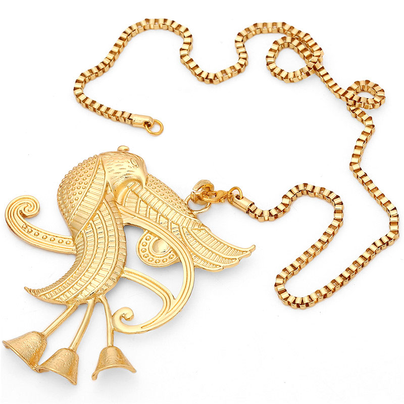 African Gift Gold Color Egyptian Queen Nefertiti,Isis,Horus Pendant Necklaces for Women Men Jewelry Wholesale Hip Hop Jewellery