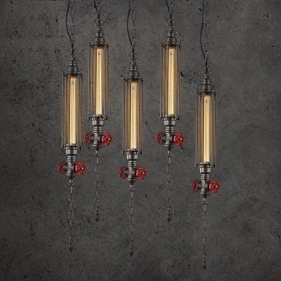 Retro Loft Style Iron Water Pipe Lamps Edison Pendant Light Fixtures Vintage Industrial Lighting For Dining Room Hanging Lamp american edison loft style rope retro pendant light fixtures for dining room iron hanging lamp vintage industrial lighting page 3