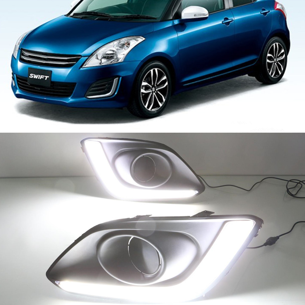 CSCSNL 1 set 12V ABS LED DRL Daytime Running Lights Daylight Fog Lamp Cover Headlamp For