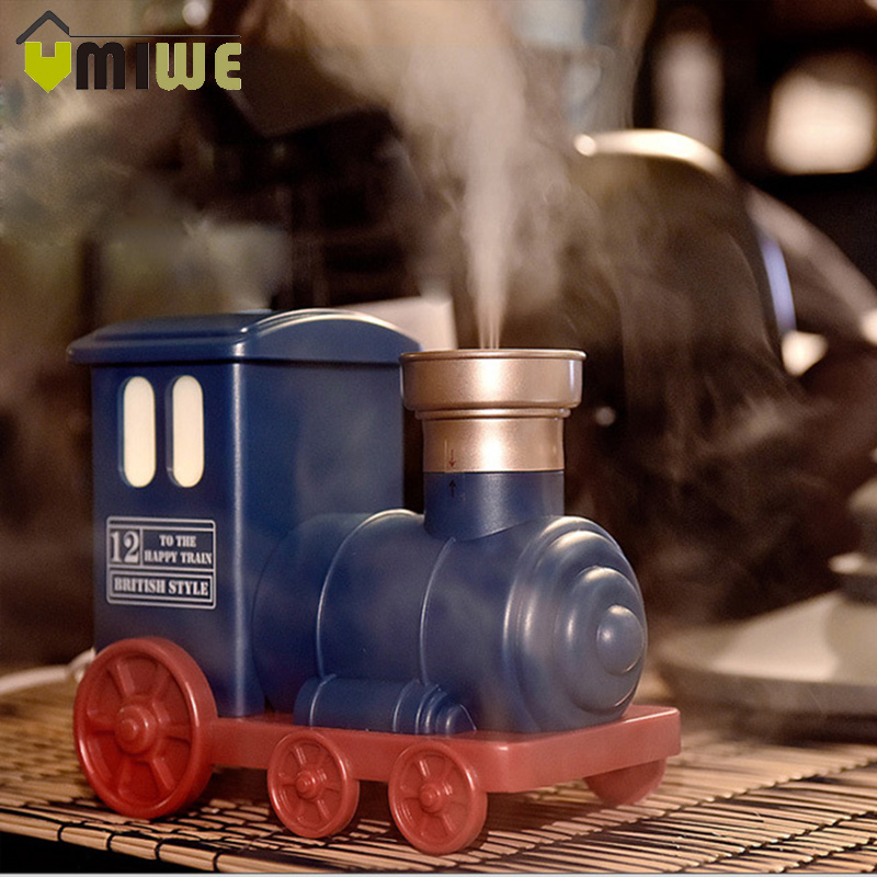 Mini Train Toy Air Humidifier USB Ultrasonic Air Humidifier Aroma Essential Oil Diffuser Mist Maker for Home Office Kids Bedroom