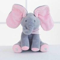 30CM Hide Hide Cats Elephants Sing Songs Music Elephants Cover Their Eyes Elephant Dolls Children S