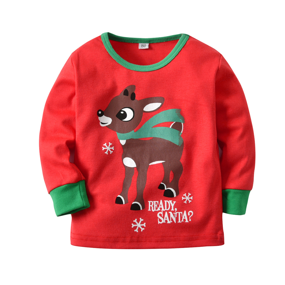 ZMHYAOKE 2018 New Winter Baby Clothes Pyjamas Sets Christmas Party ... 583c2fa37