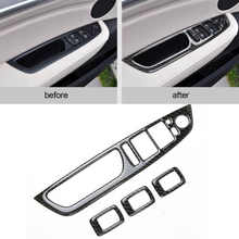 цены на Armrest Car Switch Panel Cover Inner Carbon Fiber For BMW X5 E70 X6 E71 Button Trim Interior Parts Accessories  в интернет-магазинах