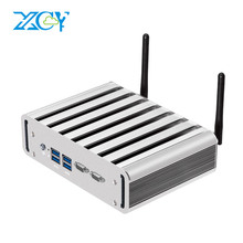 XCY Core i3-4010U i5-4200U i7-4500U Mini PC Windows 10 HTPC TV BOX 4*USB3.0 2*LAN 2*COM 300M WIFI
