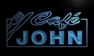 x0002-tm John Cafe Custom Personalized Name Neon Sign Wholesale Dropshipping On/Off Switch 7 Colors DHL