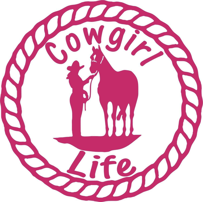 Untuk Cowgirl Rodeo Kuda Tali Kehidupan Pertanian Truk Trailer Mobil Jendela Vinyl Decal Sticker Mobil Styling