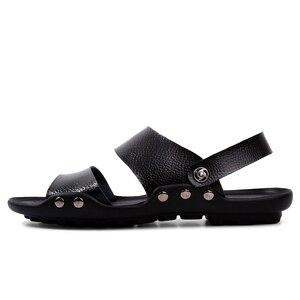 Image 2 - PLUS ขนาดชายหนังรองเท้าแตะแฟชั่น Breathable ชายรองเท้าฤดูร้อนผู้ชายรองเท้าชายหาดรองเท้าแตะชายหาดรองเท้าแตะ Dropshipping