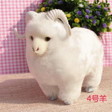 simualtion white goat model 15*8*13cm, plastic& furs sheep toy handicraft,home decoration Xmas gift w5748