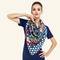 2017 New Arrival dot women scarf exquisite geometric print silk scarf luxury brand women hijab foulard shawls butterfly scarves