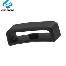 ECSEM döngü halka tutucu Fitbit dalgalanma için band kayışı kaleci Garmin vivoactive HR silikon kauçuk toka kaleci 28mm