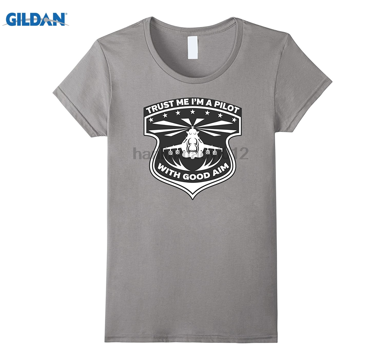 GILDAN Trust Me Im A Pilot with Good Aim T-shirt Dress female T-shirt