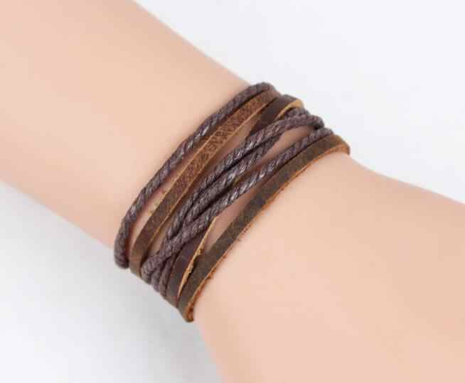 2016 New Fashion 100% Genuine Braided leather bracelet Men Bracelet for Women Jewelry with Magnetic Clasps Charm Bracelet