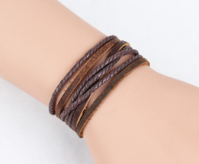 2016 New Fashion 100% Genuine Braided leather bracelet Men Bracelet for Women Jewelry with Magnetic Clasps Charm Bracelet