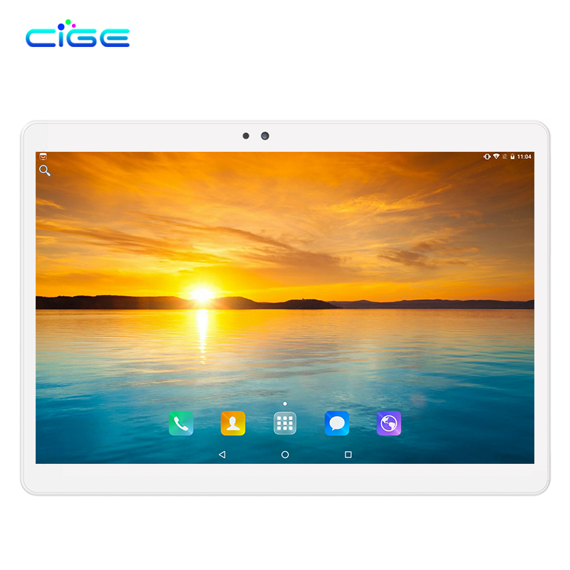CIGE Newest 10.1 inch Tablet PC Android 7.0 4GB RAM 64GB ROM Octa Core Dual SIM 4G LTE 1280*800 IPS Phone Call Tablets the tablet pc android 5 1 octa core 9 6 inch 3g 4g lte 4gb ram 64gb rom dual sim card phone call gps 1280 800 ips tablets 10